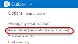 hotmail password setting